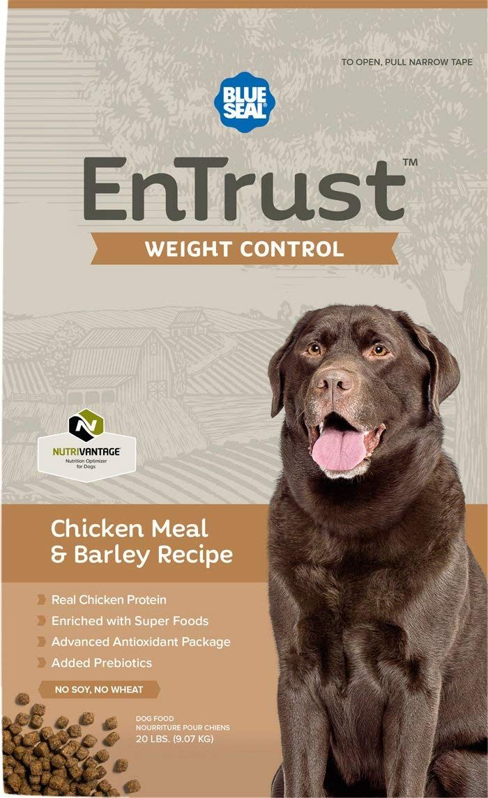 Blue Seal Entrust Weight Control Chicken Meal And Barley Dog Food
