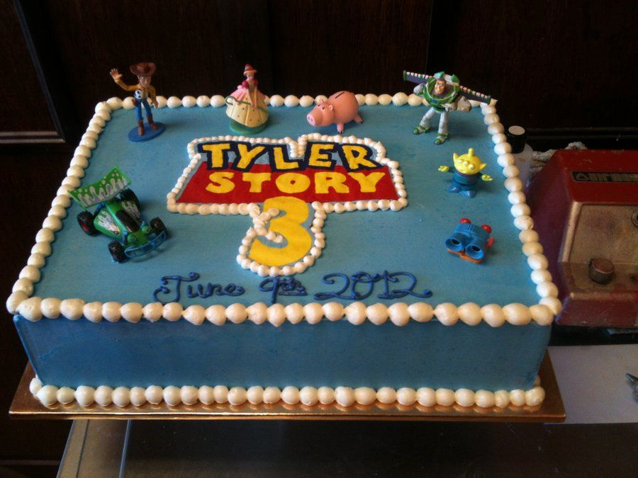 Toy Story Sheet Cakes Toy Story Themed Buttercream Cake By