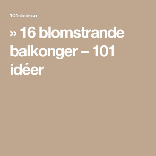 » 16 blomstrande balkonger – 101 idéer