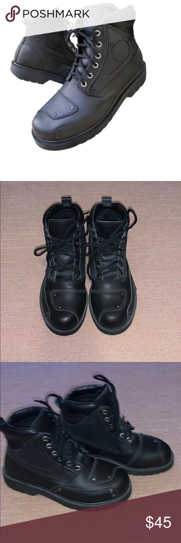 36f266df25a Joe Rocket black leather Moto boots EUC sz 6 Joe Rocket Womens Orbit ...