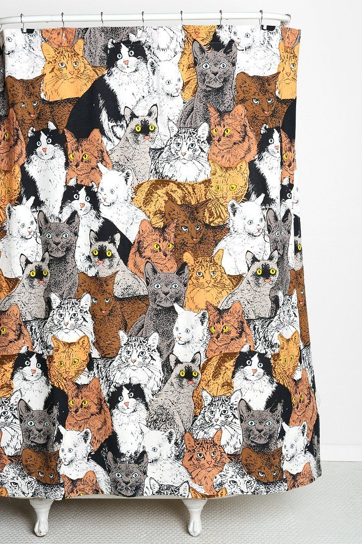 Catz Shower Curtain - Urban Outfitters