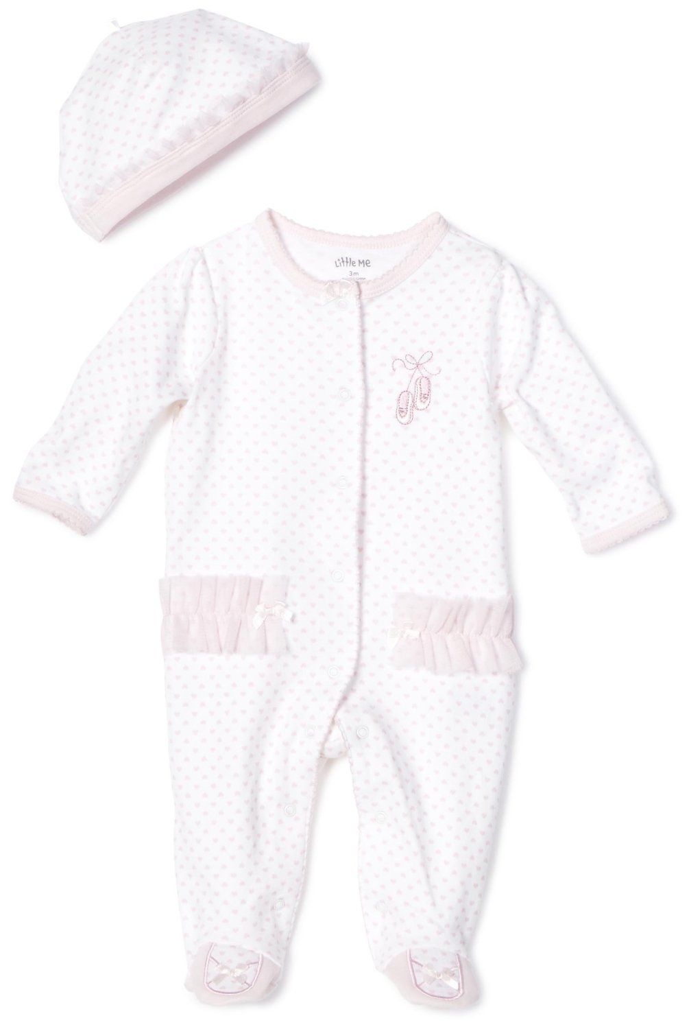 bf94cc0ad Little Me Baby-girls Newborn Prima Ballerina Footie and Hat | Baby ...