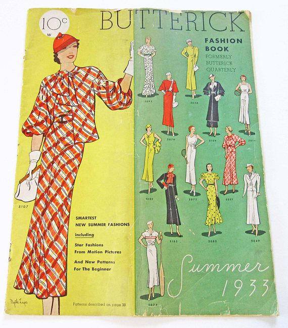 RARE Vintage Sewing Pattern Catalog Butterick Fashion Book Summer ...