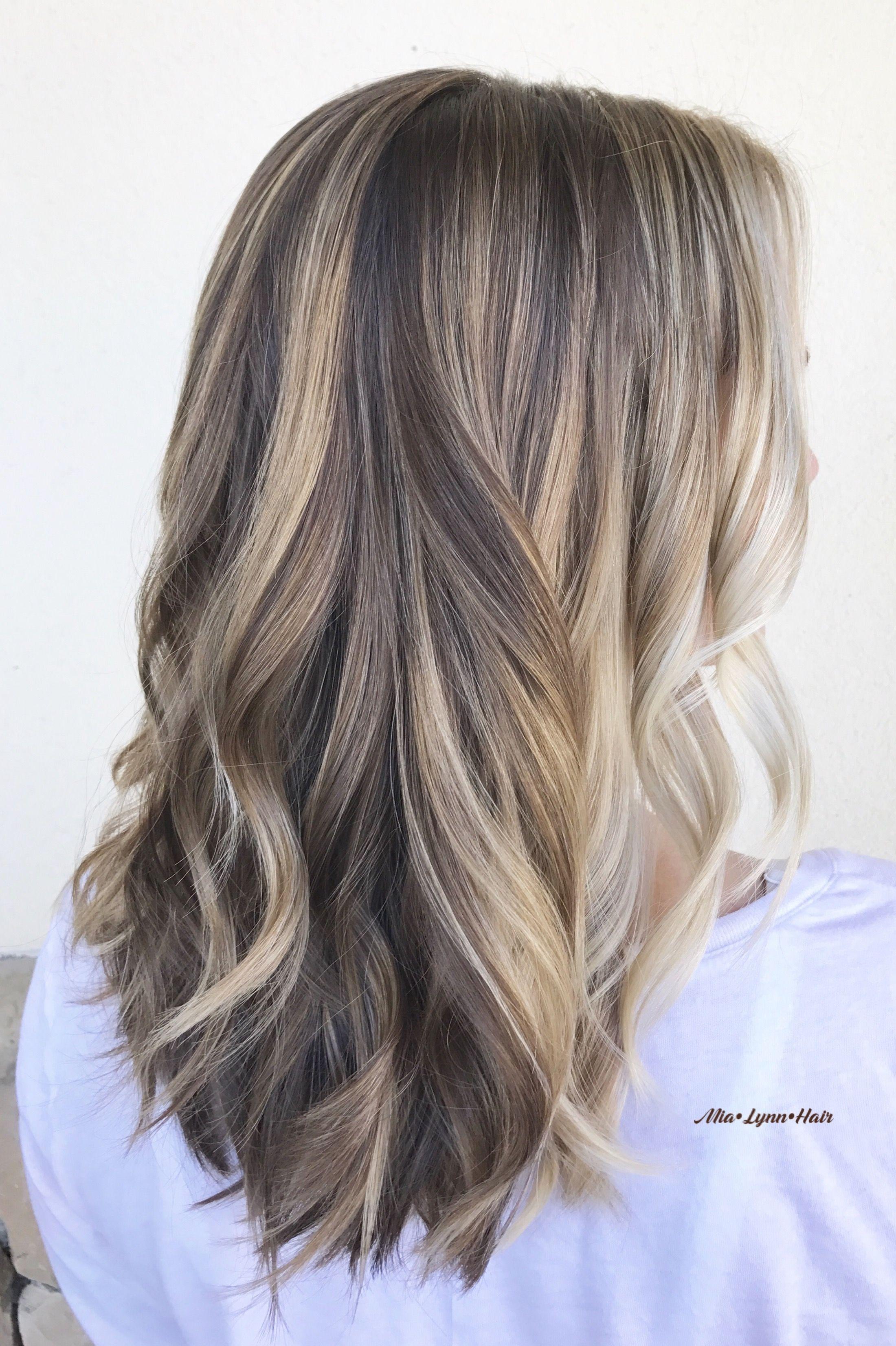 Blonde hair dimensional blonde dimensional brunette balayage