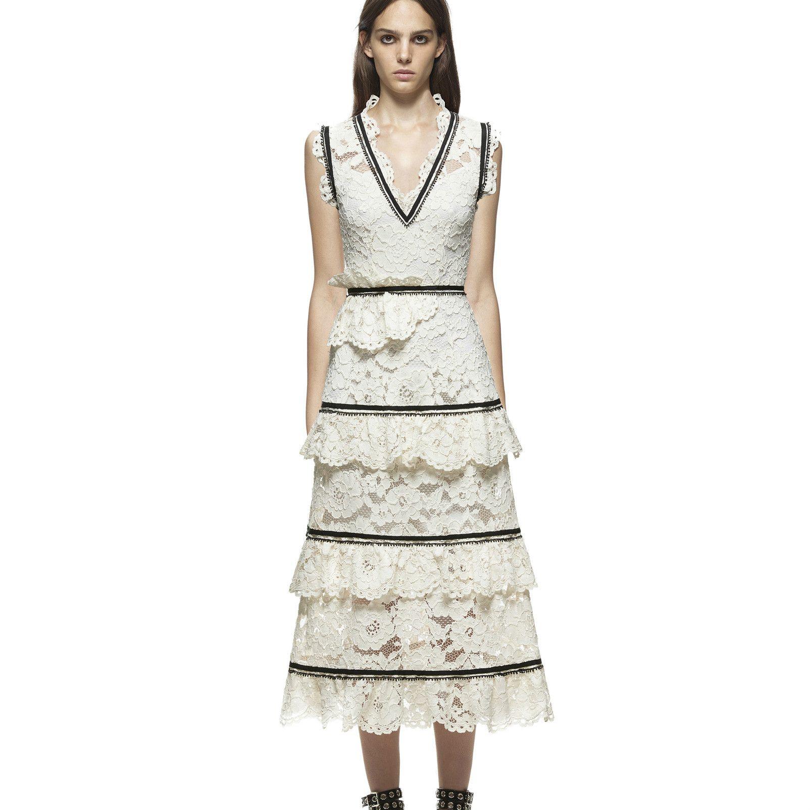 women self portrait style top grade fashion elegant vestidos