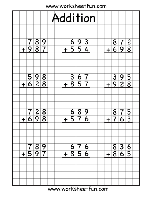 Need A Math Worksheets? Here's A Free Template! Create Ready-to-use Form… Math  Addition Worksheets, Addition With Regrouping Worksheets, 4th Grade Math  Worksheets