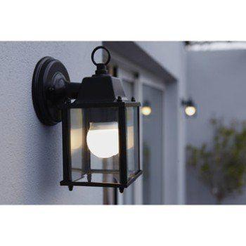 Applique Descendante Exterieure E27 Max 60w Noir Sanboi Inspire Parement Mural Lanterne Murale Lampe Exterieur