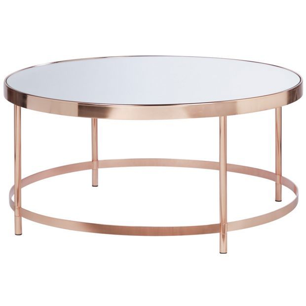 Buy Collection Round Glass Top Coffee Table Copper Plated At Argos Co Uk Your Online Shop For Occasiona Coffee Table Copper Coffee Table Round Coffee Table