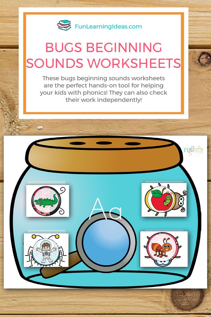 These Bugs Beginning Sounds Worksheets Are The Perfect Hands On Tool For Helping Your Kids Wit Beginning Sounds Worksheets Beginning Sounds Alphabet Activities [ 1102 x 735 Pixel ]