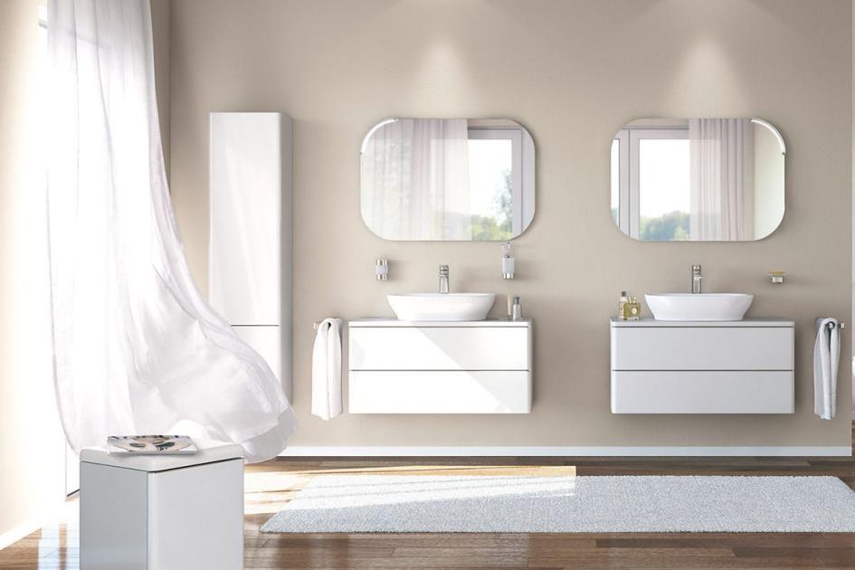 Wandfarben fürs Badezimmer Zartes Beige und Weiß wirken edel und fein