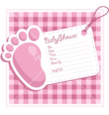 Baby Shower Card Templates Free Baby Shower Invitation Card Vector