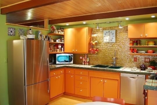 A Complete Colorful Kitchen RenovationOn a Budget Small Kitchen