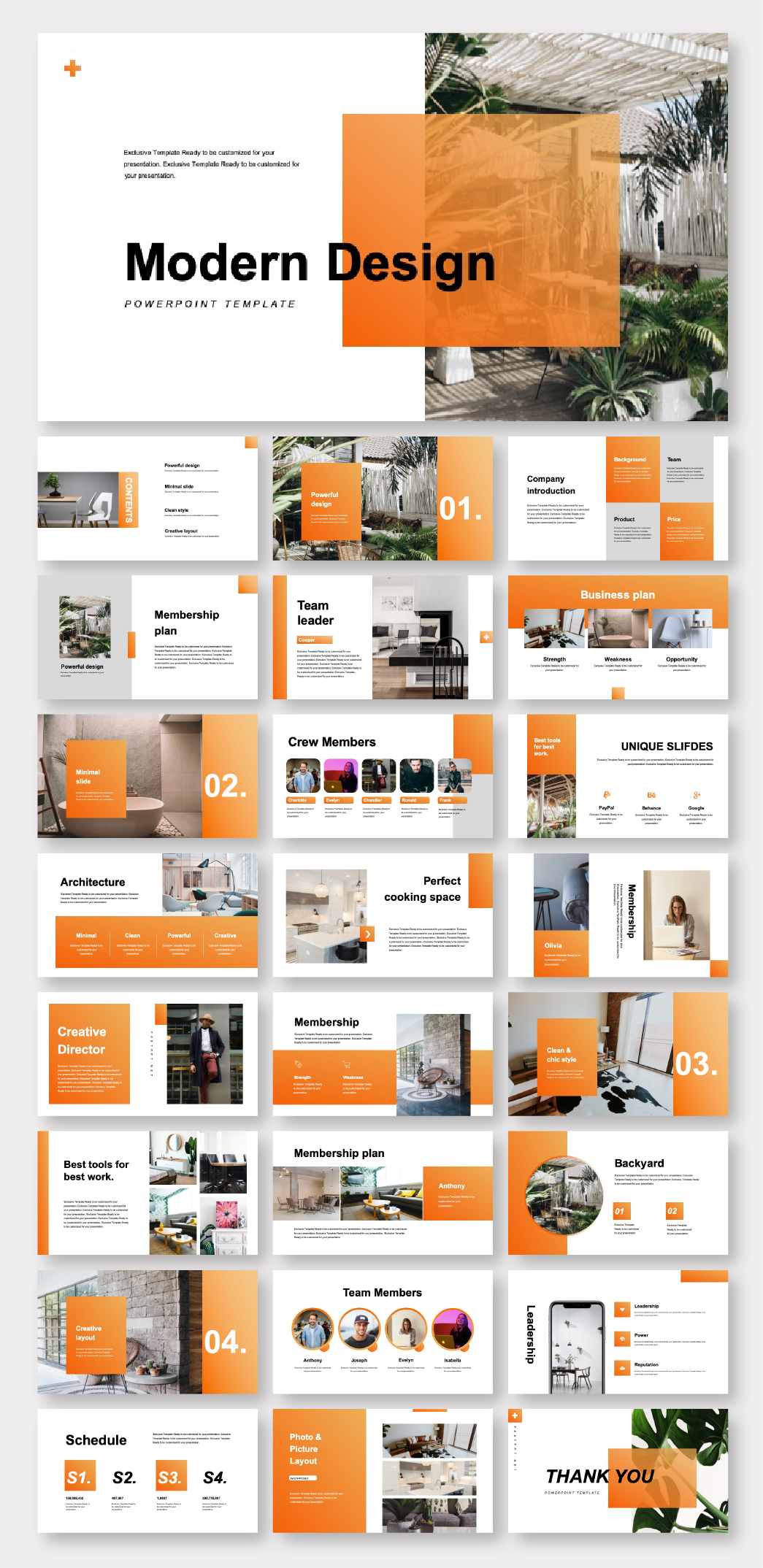 Clean Modern Design Report Presentation Template