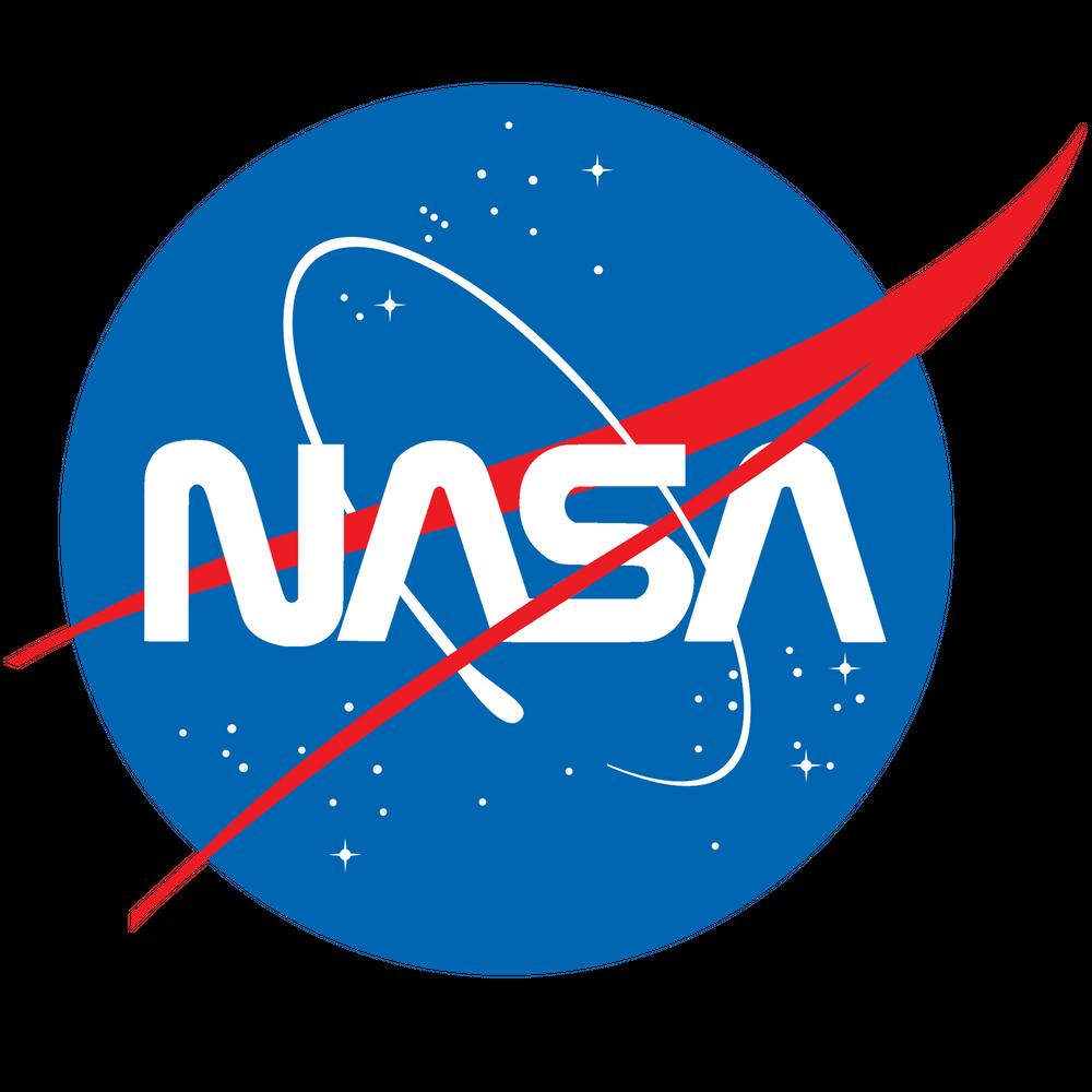 "NASA Logo Sticker by Rauros White 3""x3"" Nasa logo"