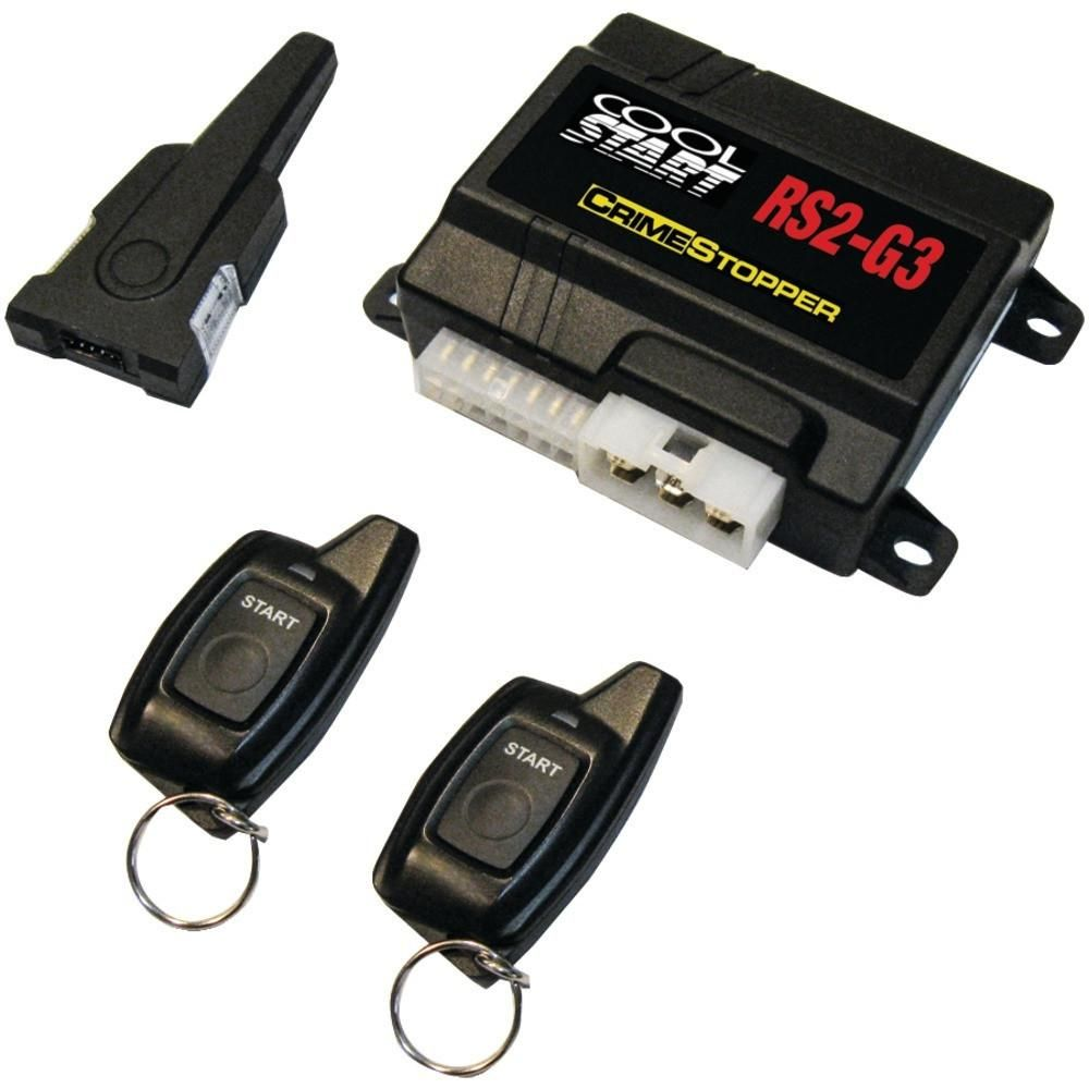 Crimestopper Cool Start 2-way Led Single-button Remote-start & Keyless-entry System