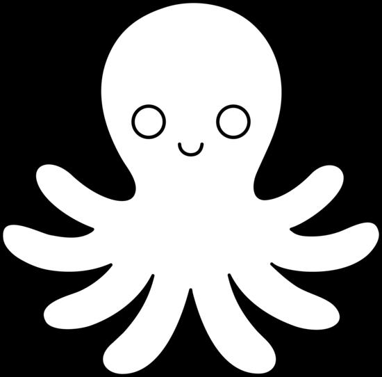 octopus outline clipart best black white pinterest clip rh pinterest com