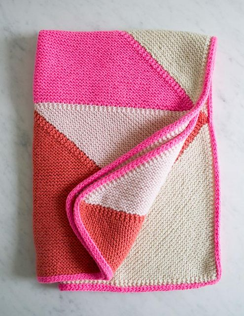 Ravelry: Flying Geese Knit Baby Blanket pattern by Purl Soho | Baby ...
