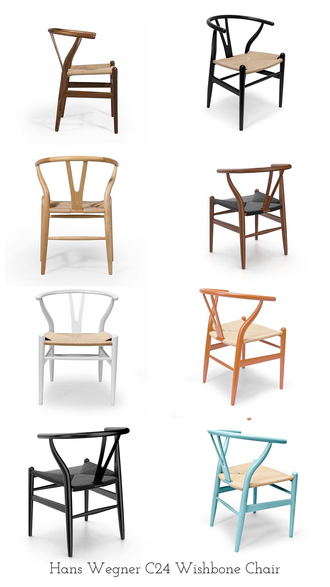 Stocked in our best selling combinations or special ordered for your own custom look, the Hans Wegner CH24 Wishbone Chair by Inmod is one of the most well known designs from the 20th century  dining chair wishbone dining chair hans wegner chair