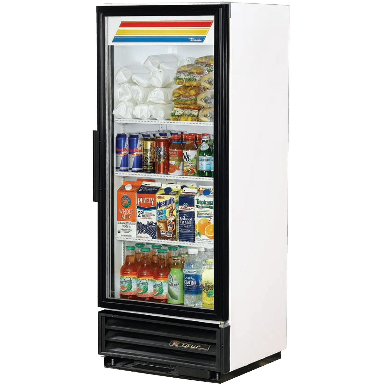 Illustration of Glass Front Refrigerator for Home Showcasing Shop ...