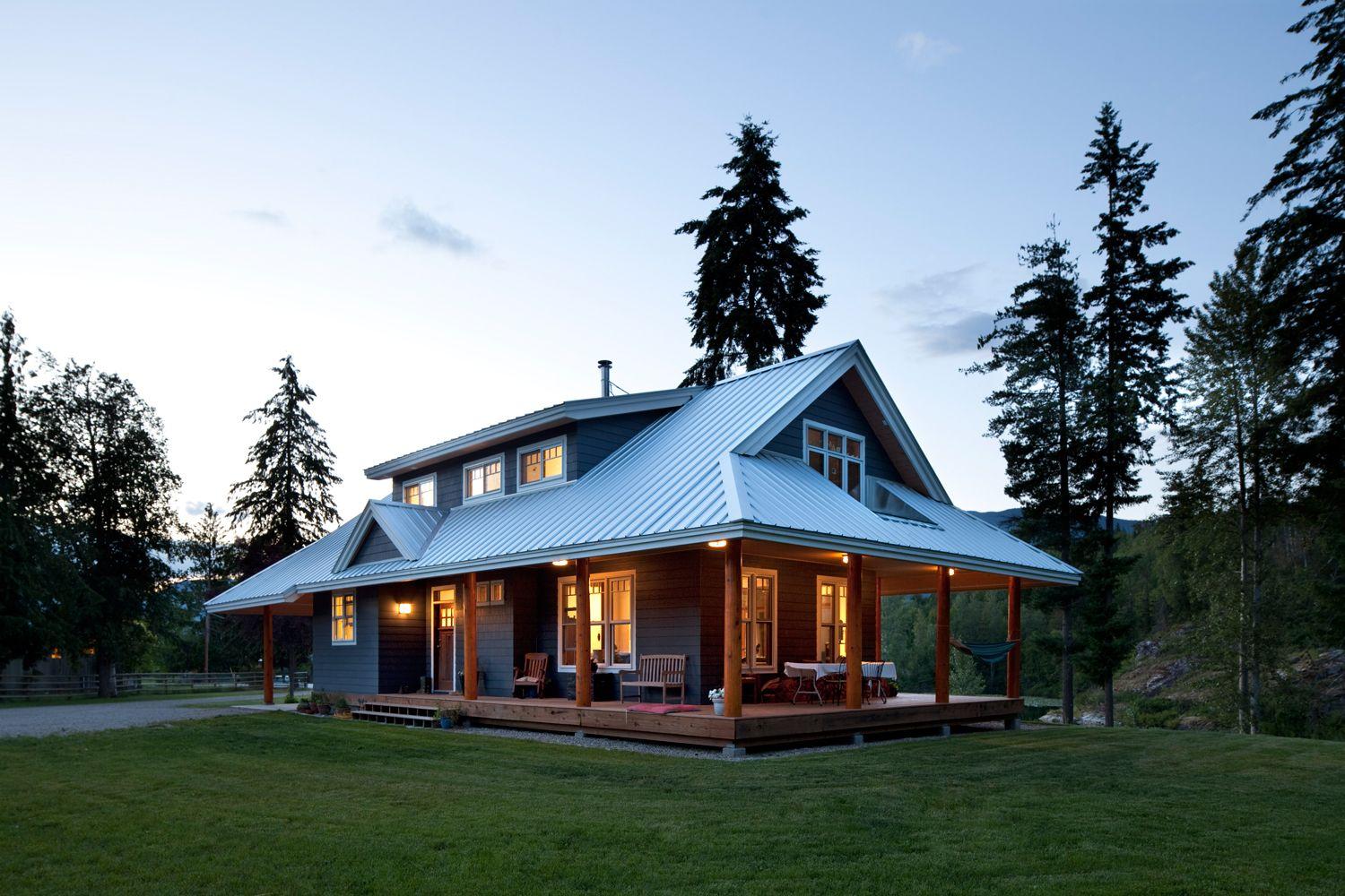 Designed as a prefabricated kit this unique family for Farmhouse style modular homes