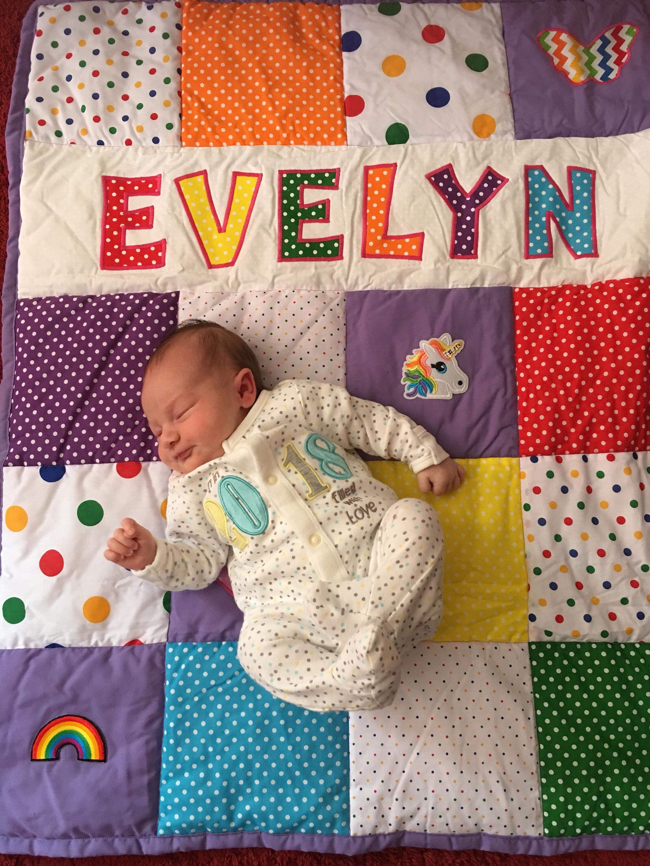 Personalised Baby S Patchwork Quilt Baby Cot Quilt New Baby Gift