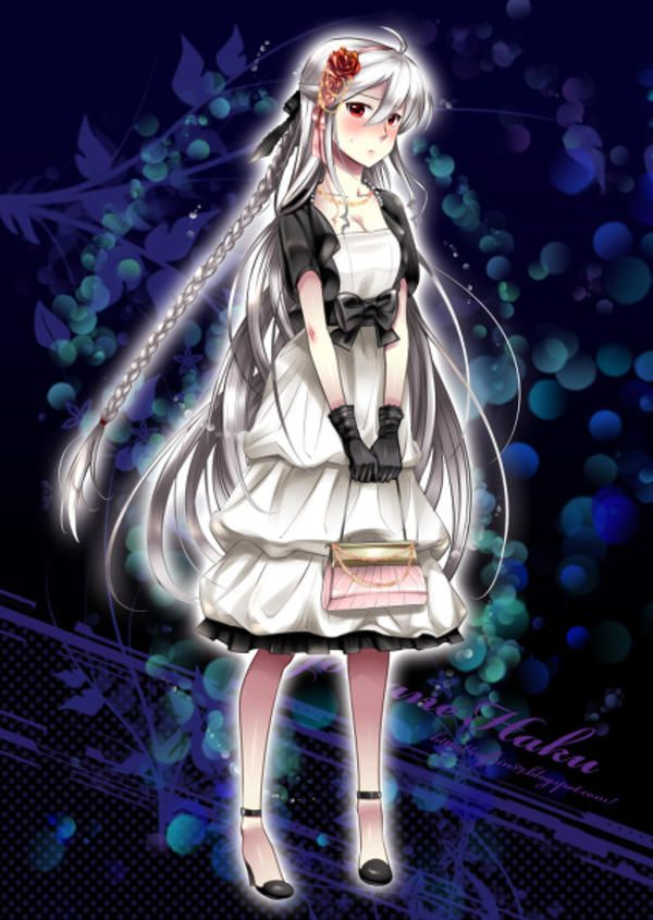 Party Dress Haku Yowane Haku Vocaloid Vocaloid Characters Anime