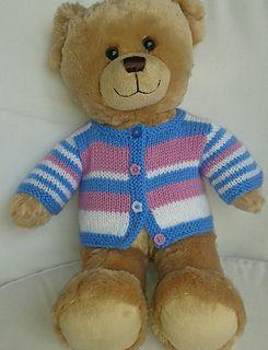 Teddy Bear basic cardigan | Teddy bear clothes, Knitted ...