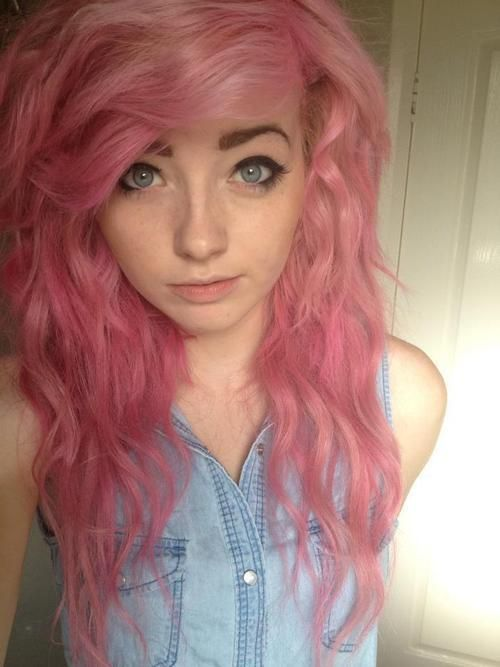 Pink hair lovely
