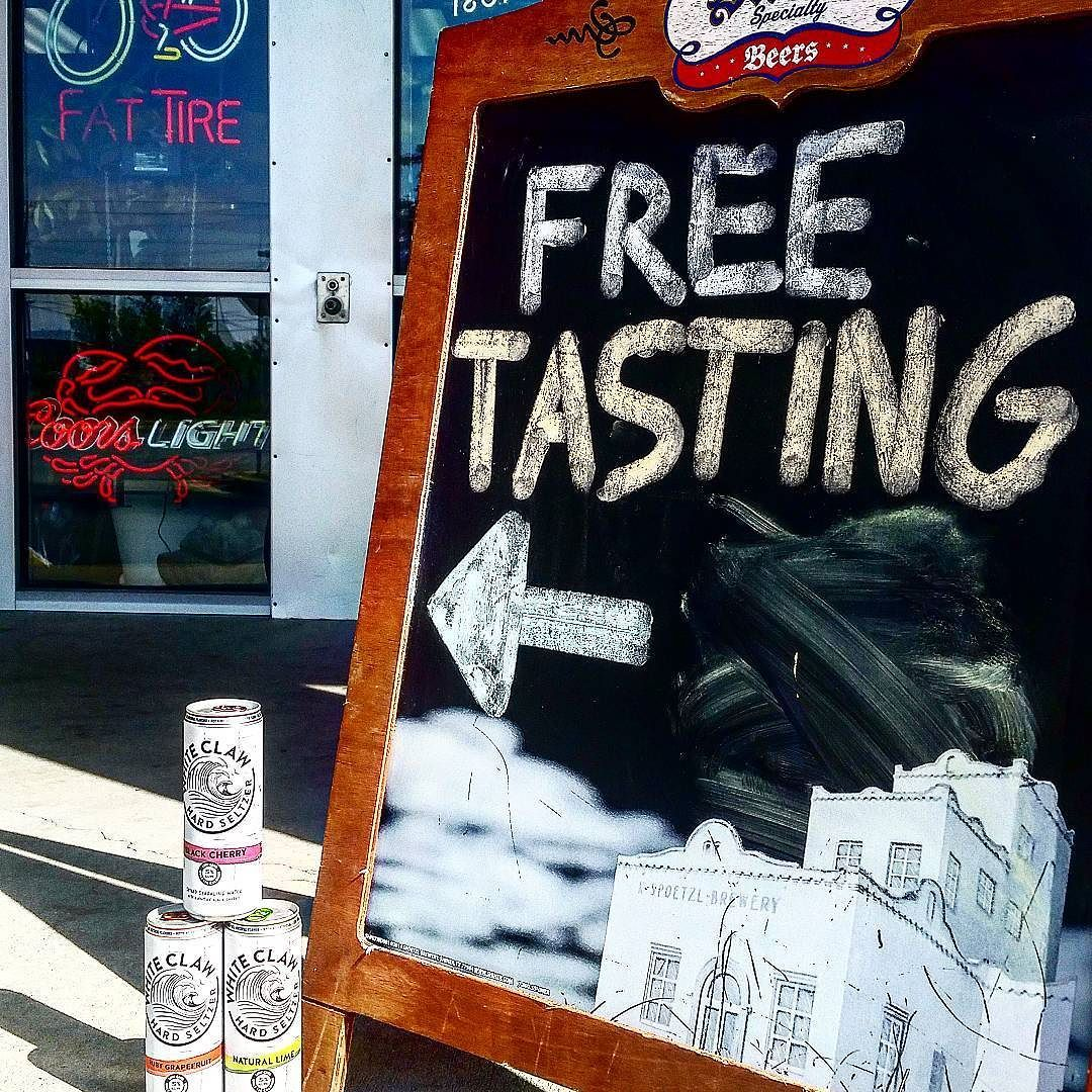 It's tasting time with @whiteclaw come try new #hardseltzers #freetasting #tastingtime