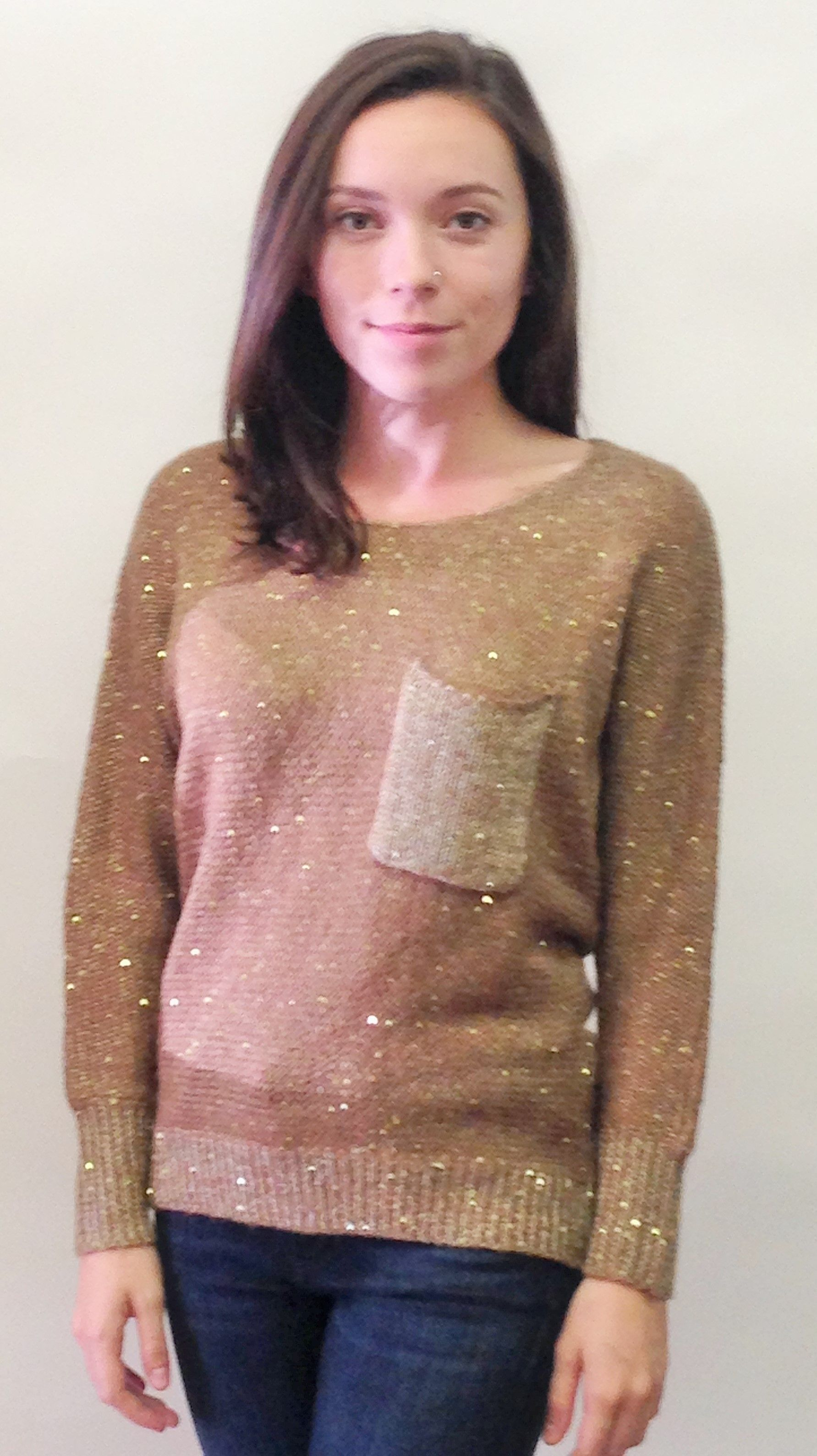 Sequin Pocket Sweater Momentum Clothing FallFashion2014