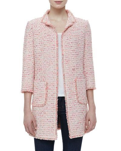 Re Inventing Today S Trends To Work For You Boucle Jacket Pink Tweed Jacket Clothes