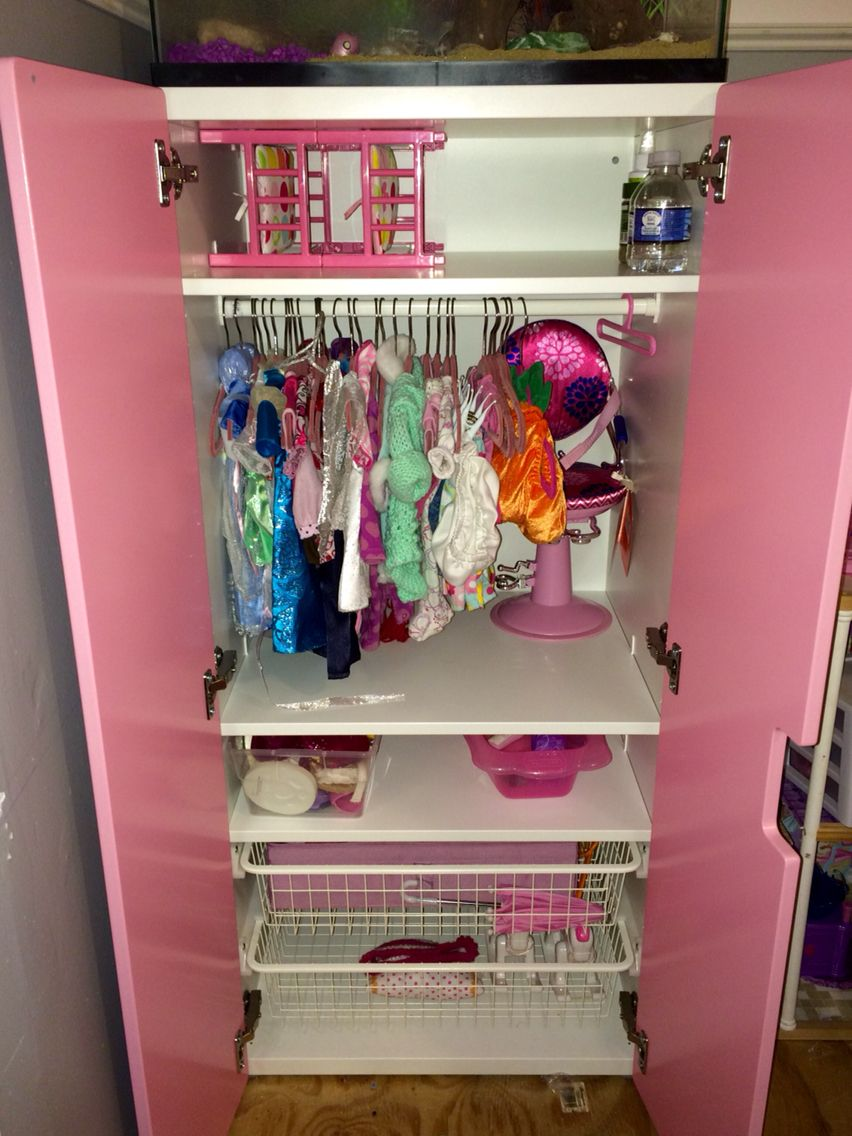 Stuva tall cabinet for American girl doll wardrobe furniture and accessory storage. & Stuva tall cabinet for American girl doll wardrobe furniture and ...