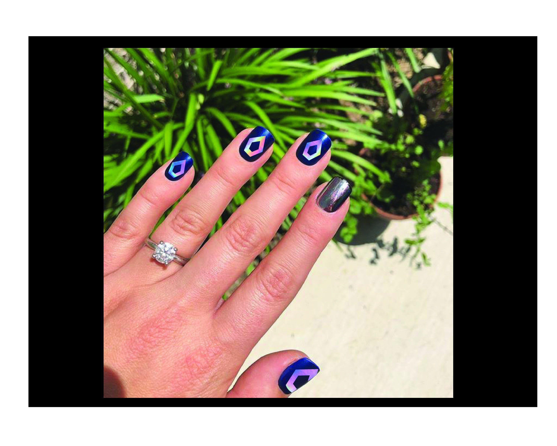 Pentagon Logo Kpop Holo Rainbow Chrome Nail Decals Set Of 5 Etsy Chrome Nails Pentagon Logo Nail Decals
