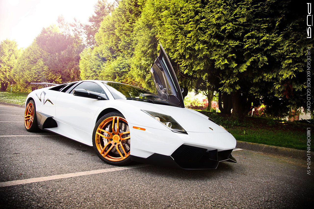 White And Gold Always Work Together Nicely Especially On A Lamborghini Murcielago Lp670 4 Super Veloce Motor Auto S En Motoren Auto S