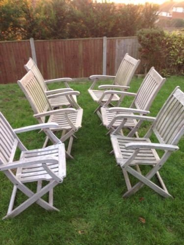Astounding A Good Set Of 6 Hardwood Teak Folding Garden Chairs Ebay Ncnpc Chair Design For Home Ncnpcorg