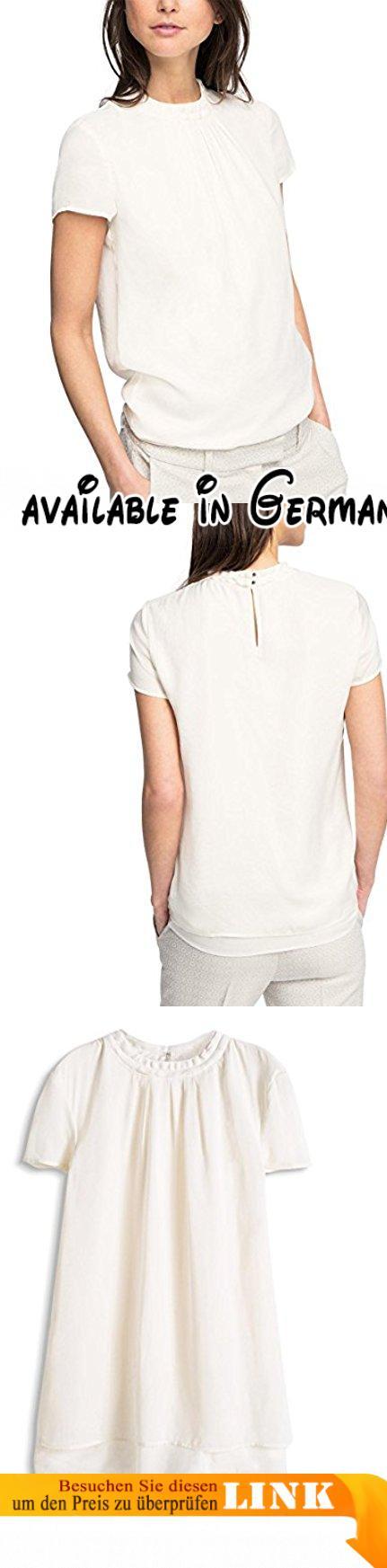 ESPRIT Collection Damen Regular Fit Bluse Blusentop, Gr. 42, Weiß (OFF WHITE 110). Zeitloses Blusentop mit dezenter 2in1 Optik; Regular Fit geschnitten.. Luftig-Lockerer Fall - lässt sich sehr angenehm tragen.. Regular Fit #Apparel #SHIRT