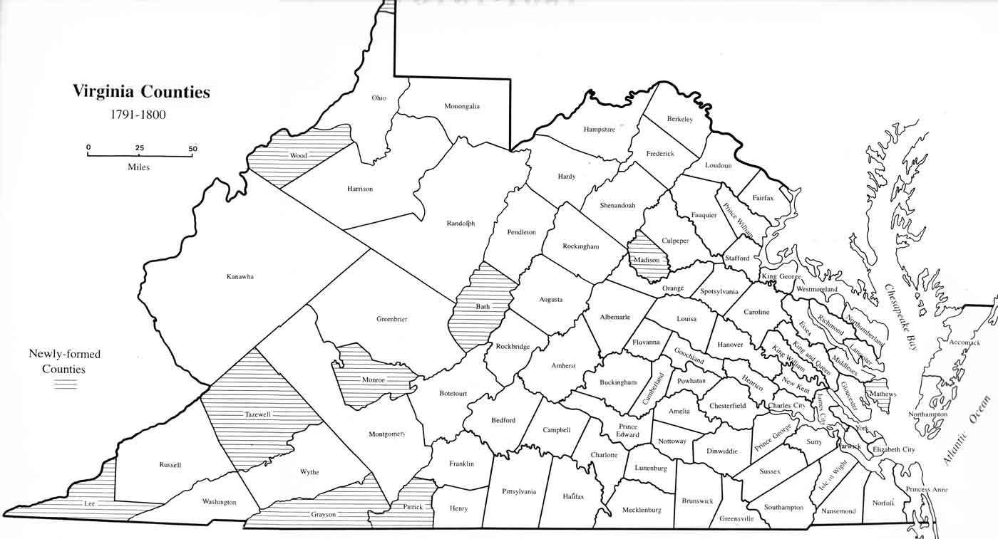 Virginia County Map 1800 Family History Pinterest County Map