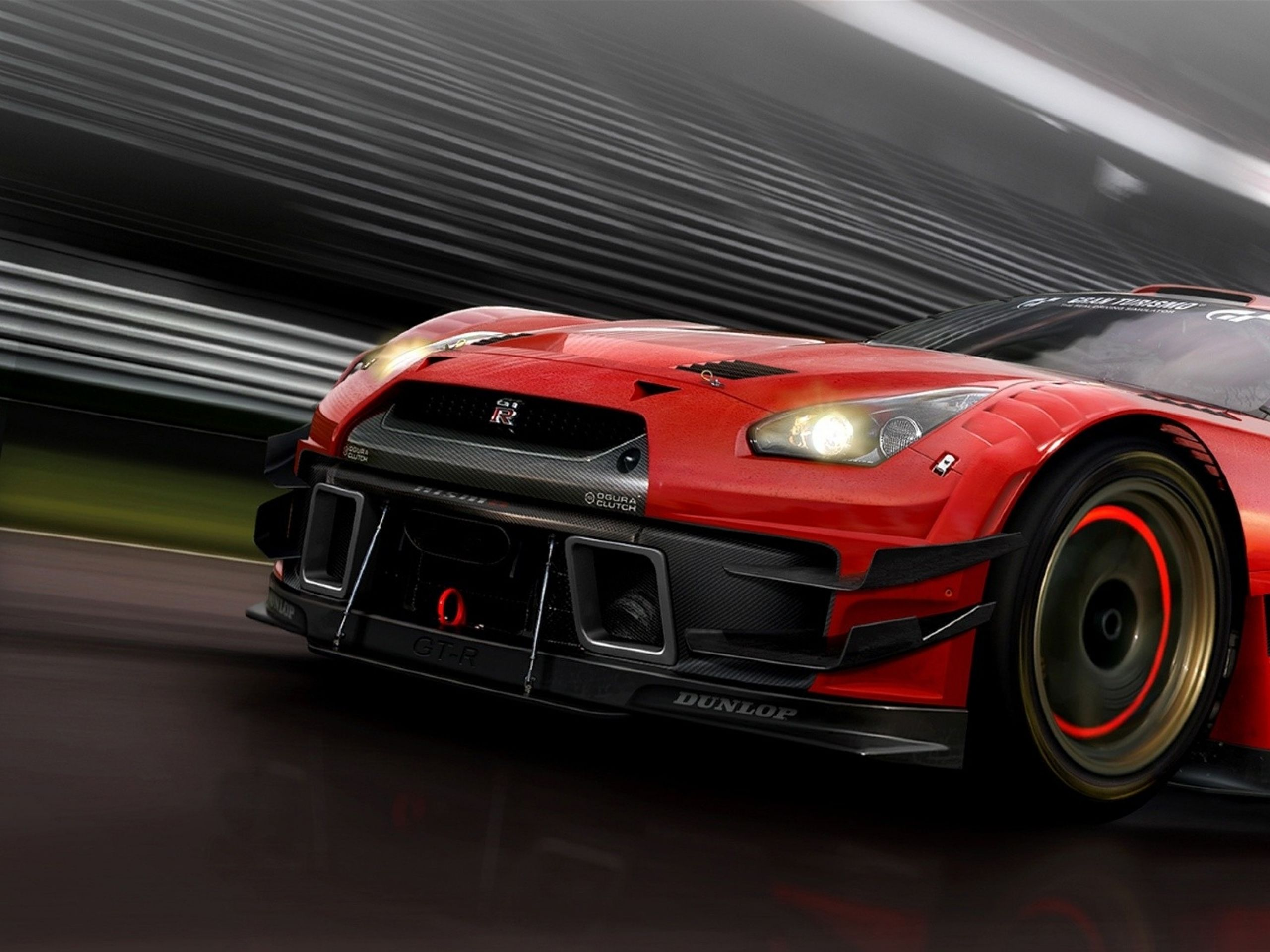 Nissan gtr sport car in red color on hd wallpapers nissan hdwallpapers www