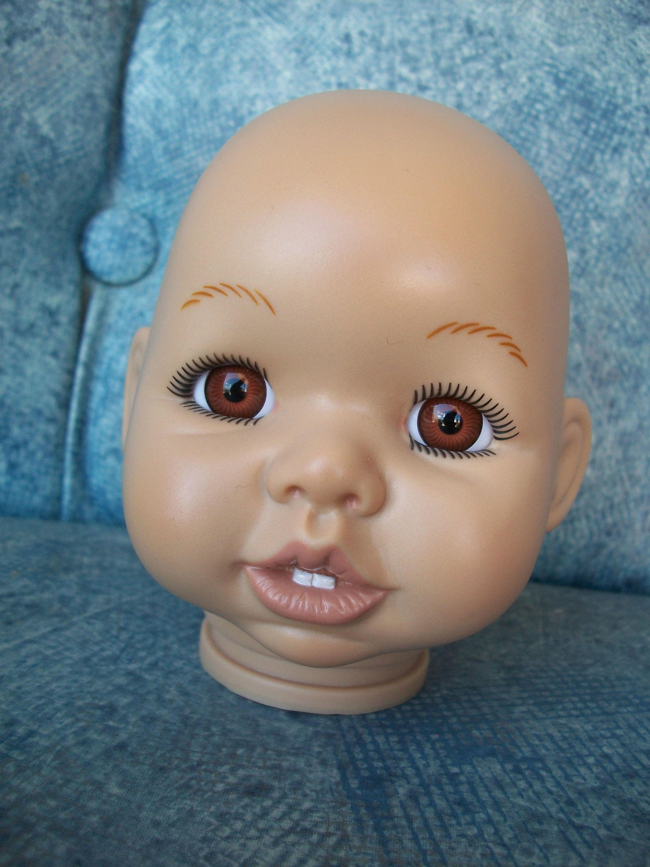 Syndee S Crafts Medium Vinyl Doll Head Cheryl Etsy Vinyl Dolls Doll Head Dolls