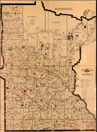 vintage Minnesota map, need this FRAMED and on my wall! | Dream