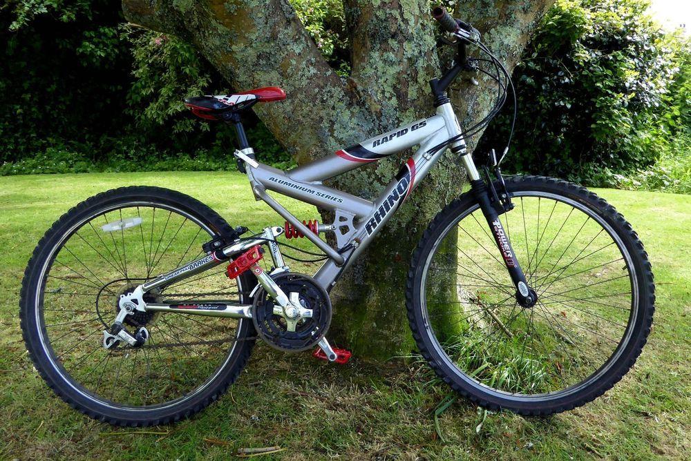 Rhino Rapid G5 Mountain Bike Front Rear Suspension 18 Alloy