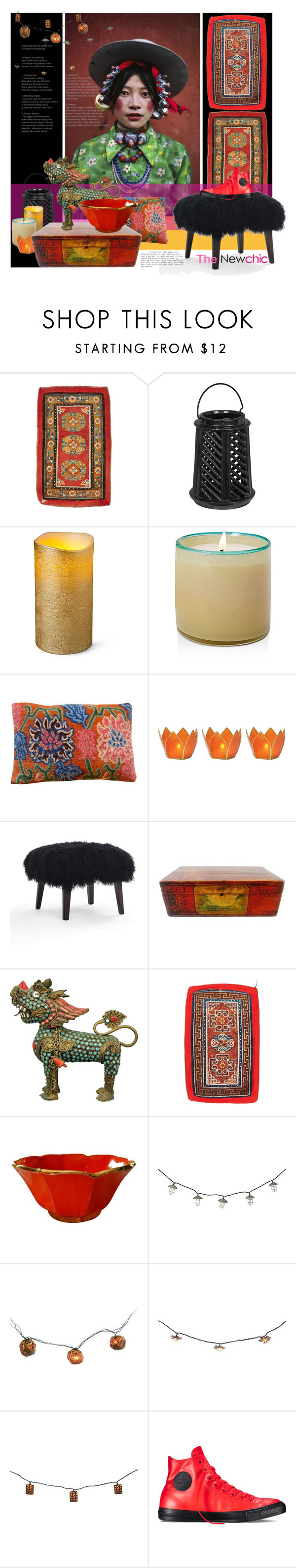 """""""Tibet...mon amour!"""" by laste-co ❤ liked on Polyvore featuring interior, interiors, interior design, home, home decor, interior decorating, Improvements, LAFCO, Cultural Intrigue and Mitchell Gold + Bob Williams"""