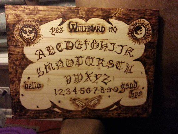Witchboard Inspired Ouija Board By Talltaleremains On Etsy Ouija Board Ouija Halloween Inspiration