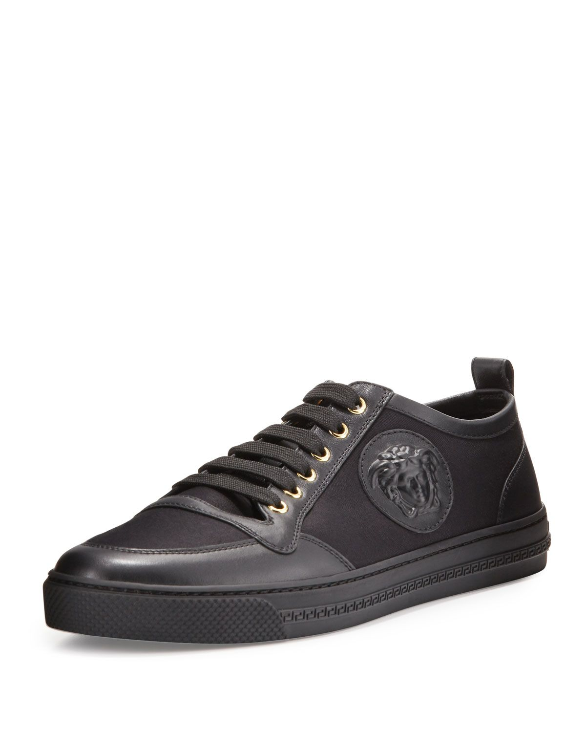 51874b9b Leather/Canvas Low-Top Sneaker Black | *Apparel & Accessories ...