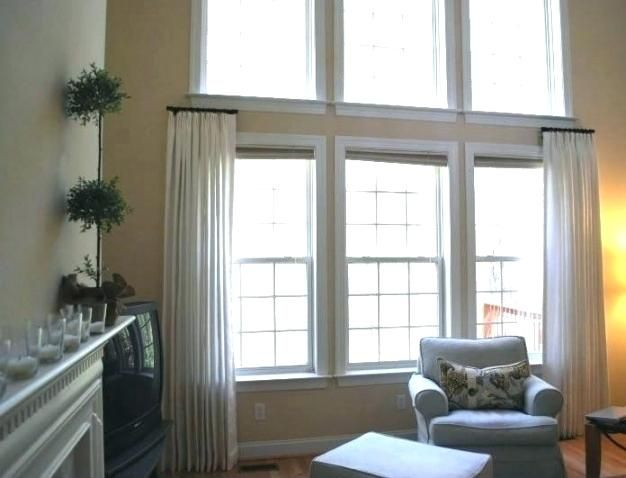One Sided Curtain Rod Bay Window All Things Thrifty Inside