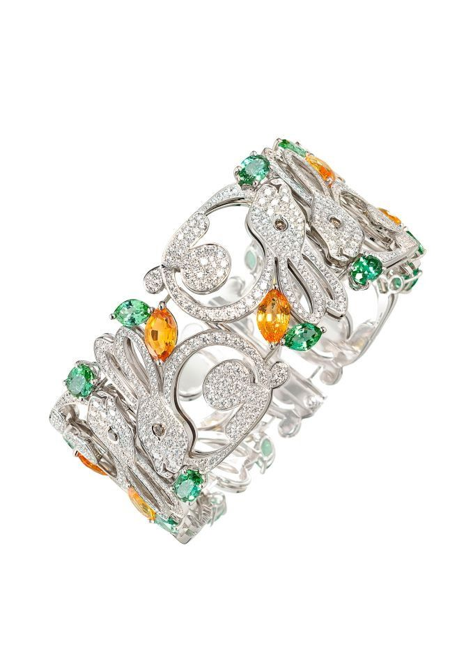 Rabbit bracelet from the Animal World High Jewellery collection... Chopard