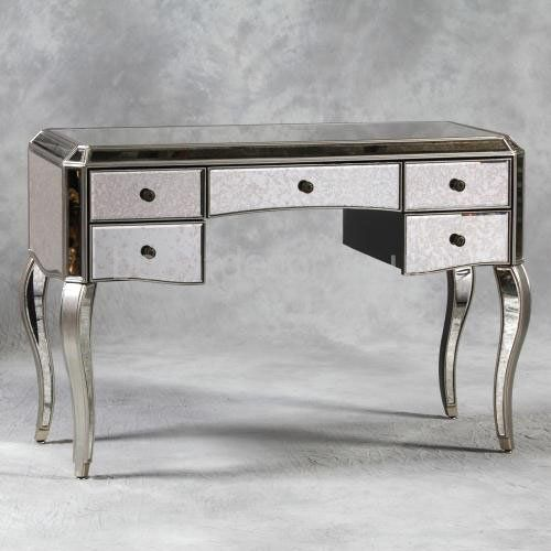 Antiqued Mirrored Dressing Table