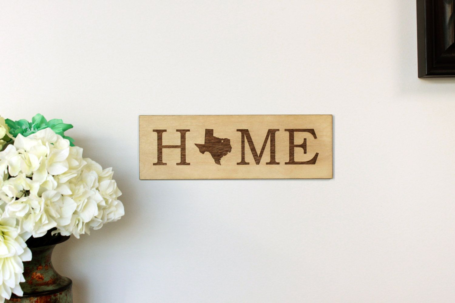 Custom Wooden Sign Home State Sign Wooden State Sign Laser Cut out ...
