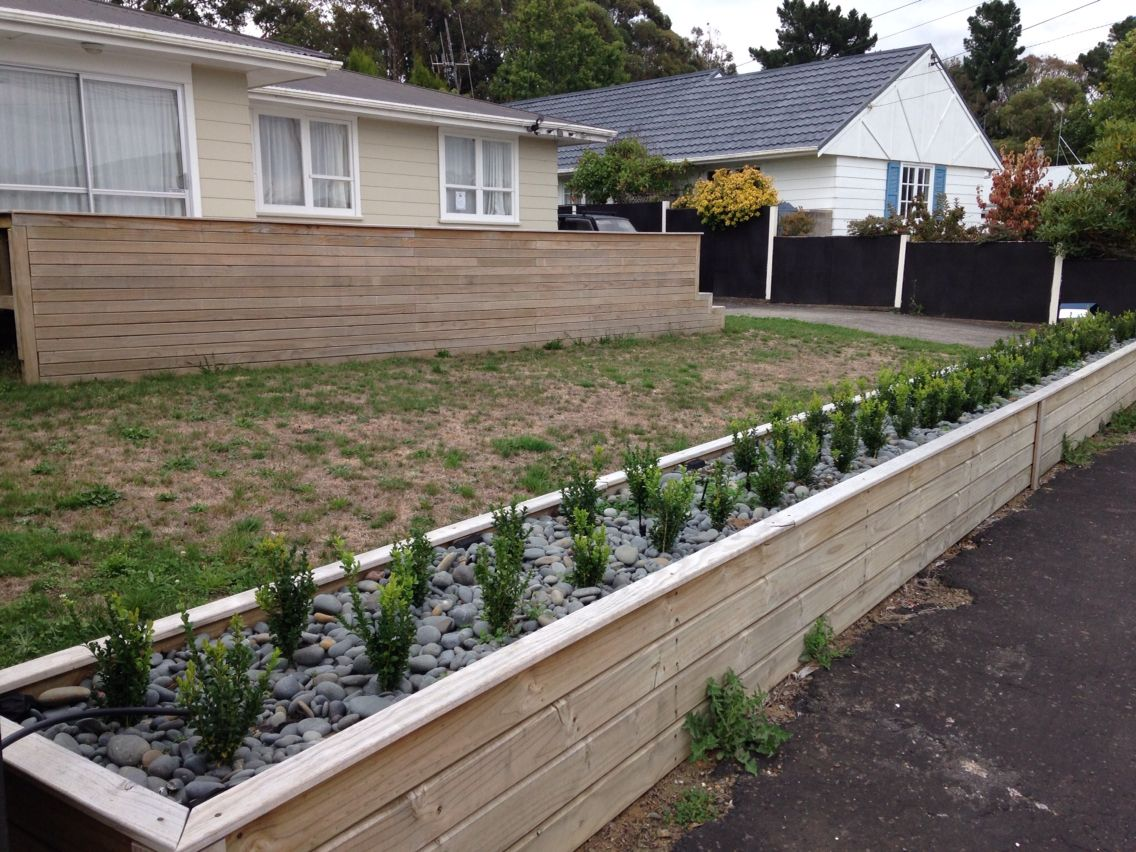Planter box fence