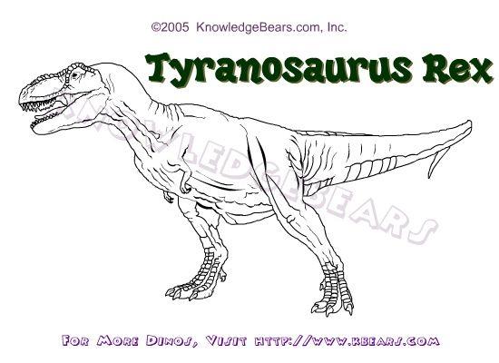 Tyrannosaurus Rex Coloring Pages Tyrannosaurus Rex Coloring Page